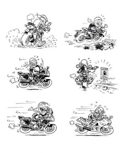 Le code des signes chez les motards association des - Dessin de motard ...