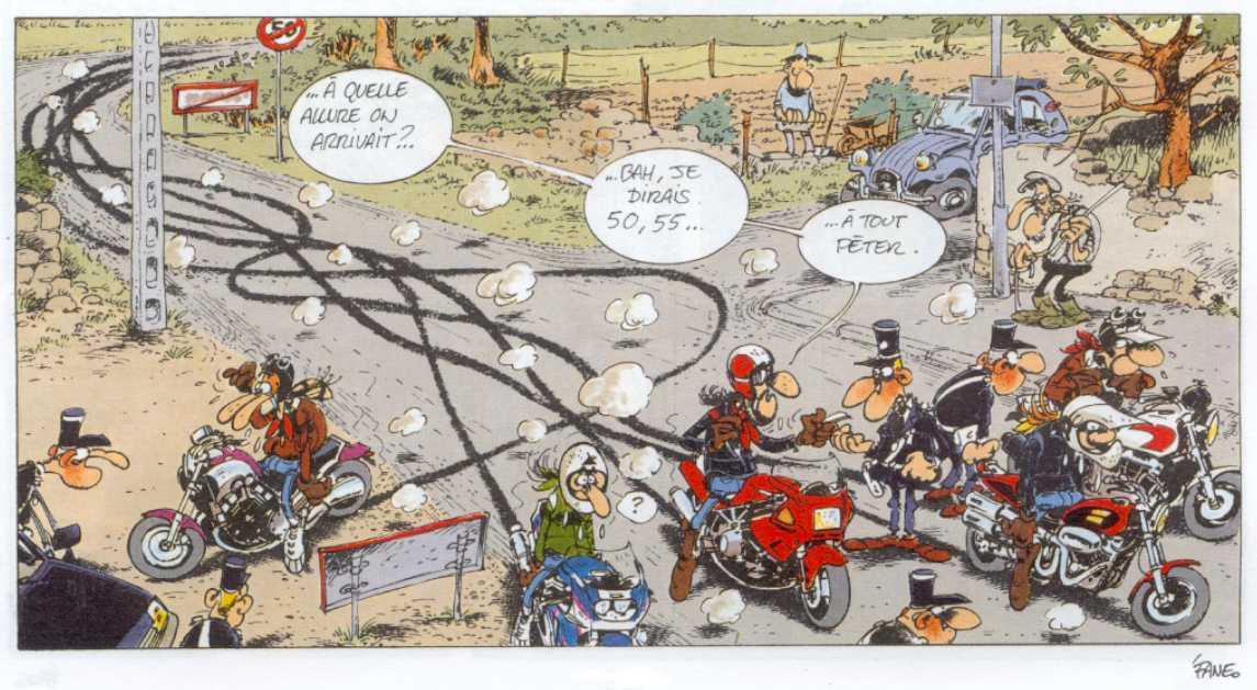 Image drôle : Motard et mouches  Mobcustom